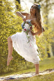 Bride in hippie style Royalty Free Stock Photo