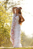 Bride in hippie style Royalty Free Stock Image