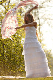 Bride in hippie style Stock Images