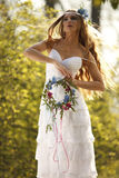 Bride in hippie style Stock Photography