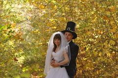Bride with her groom Stock Photo