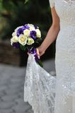 Bride hold wedding bouquet Stock Photos