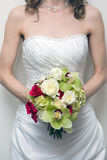 Bride holding bouquet Stock Image
