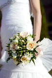 Bride holding a bouquet Royalty Free Stock Images