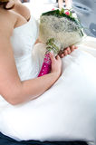 Bride holding bouquet Royalty Free Stock Photo