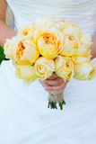 Bride Holding Bouquet Flowers Royalty Free Stock Image