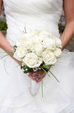 Bride holding a bouquet stock image