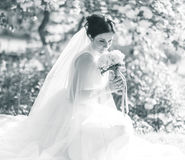 Bride holding the bouquet Royalty Free Stock Photography