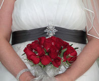 Bride holding bridal bouquet Royalty Free Stock Photography
