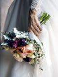 Bride Holding Flower Bouquet Wedding Engagement Ceremony Royalty Free Stock Photo