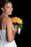 Bride Holding Flowers Royalty Free Stock Image