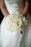 Bride Holding Her Bouquet Stock Image