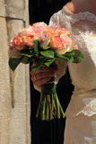 Bride holding her bouquet Royalty Free Stock Photo