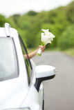Bride holding a wedding bouquet Stock Photography
