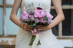 Bride`s Bouquet. Bride with bouquet. Wedding bouquet. stock image