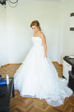 Bride at Home. Bride preparing for wedding at home Stock Photography