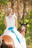 Bride and horse Stock Photo