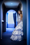 Bride at hotel corridor Royalty Free Stock Images