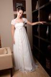 Bride at hotel reception Stock Image