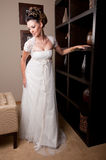 Bride at hotel reception Stock Photography