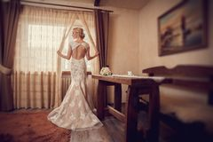 Bride in hotel Royalty Free Stock Images