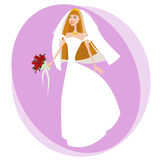Bride illustration vector Stock Image