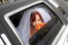 Free Bride In Wedding Car Royalty Free Stock Photo - 4085675