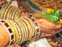 Bride in Indian Marriage. Bride performing rituals in an Indian Marriage Stock Image