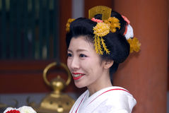 Bride at Kasuga Taisha shrine, Nara, Japan Royalty Free Stock Photography