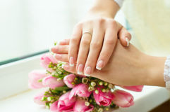 Bride keep of the hands Stock Images