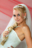 Bride keeps hair Stock Photos