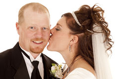 Bride kiss Royalty Free Stock Images