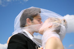 Bride kisses Royalty Free Stock Photos