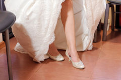 Bride at Kitchen Stock Image