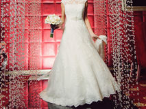Bride in Lace Dress Royalty Free Stock Photo