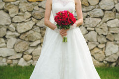 Bride in Lace Dress Stock Photography