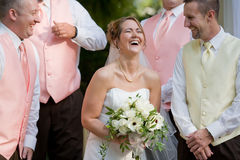 Bride Laughing Stock Photography