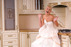The bride laughs Stock Photo
