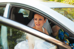 Bride leaving home Royalty Free Stock Images