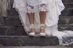 Bride legs stock image