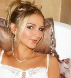 Bride with light hair and diamante Royalty Free Stock Images