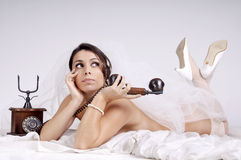 Bride in lingerie Royalty Free Stock Images