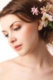 Bride is looking away Stock Image