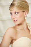 Bride Looking Away and Smiling Royalty Free Stock Photo