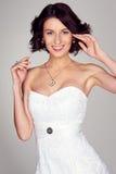 Bride looking at camera and smiling Stock Photo