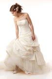 Bride is looking down Stock Image
