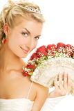 Bride with luxury bouquet Stock Images