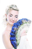 Bride with luxury bouquet Royalty Free Stock Photography
