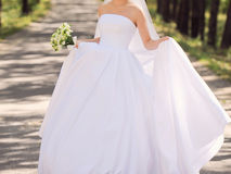 Bride at Luxury Dress Stock Photography