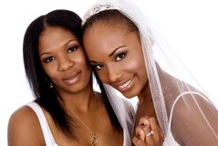 Bride and maid of honor Royalty Free Stock Image